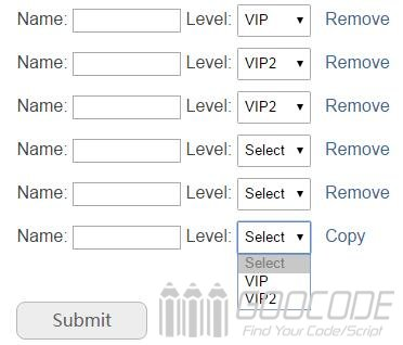 Use Jquery to copy form element