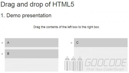 Drag and Drop Drag and Drop for HTML5