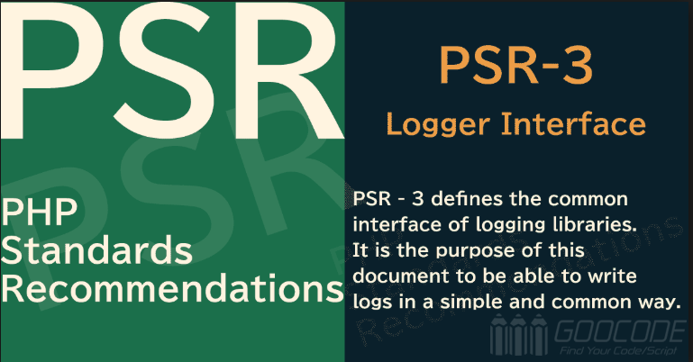 PHP PSR-3 Log Interface Specification