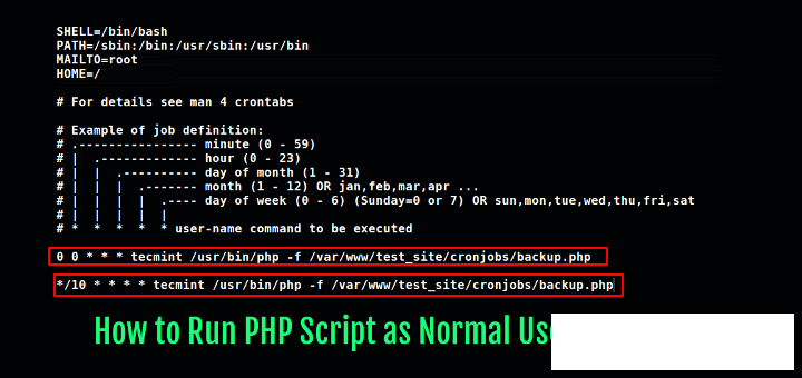 PHP+Crontab performs scheduled tasks