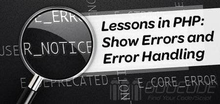 PHP errors and exception handling